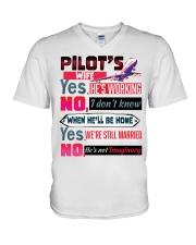 Pilot's Wife V-Neck T-Shirt tile