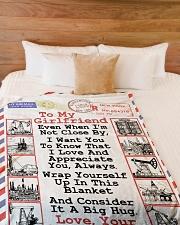 "Oilfield Man's Girlfriend  Premium Large Fleece Blanket - 60"" x 80"" aos-coral-fleece-blanket-60x80-lifestyle-front-02"