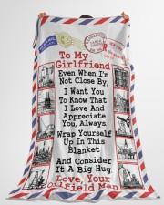"Oilfield Man's Girlfriend  Premium Large Fleece Blanket - 60"" x 80"" aos-coral-fleece-blanket-60x80-lifestyle-front-10"
