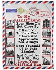 "Oilfield Man's Girlfriend  Premium Large Fleece Blanket - 60"" x 80"" front"