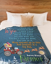 "Farmer's Wife  Premium Large Fleece Blanket - 60"" x 80"" aos-coral-fleece-blanket-60x80-lifestyle-front-02"