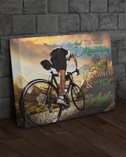 Mountain Biking - Premium 14x11 Gallery Wrapped Canvas Prints aos-canvas-pgw-14x11-lifestyle-front-11