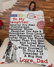 "Firefighter's Daughter Premium Large Fleece Blanket - 60"" x 80"" aos-coral-fleece-blanket-60x80-lifestyle-front-04"