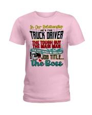 Trucker's Girlfriend Ladies T-Shirt tile