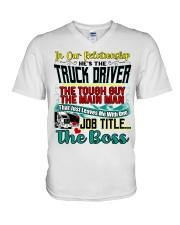 Trucker's Girlfriend V-Neck T-Shirt tile