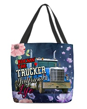 Trucker's Girlfriend All-over Tote back