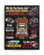 Trucker - Premium 11x14 Gallery Wrapped Canvas Prints aos-canvas-pgw-11x14-ghosted-front-02