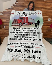 """Gift For Trucker - Cyber Monday Sale Large Fleece Blanket - 60"""" x 80"""" aos-coral-fleece-blanket-60x80-lifestyle-front-04"""