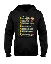 CROCHETING - Premium Hooded Sweatshirt tile