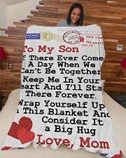 "GIFT FOR SON Premium Large Fleece Blanket - 60"" x 80"" aos-coral-fleece-blanket-60x80-lifestyle-front-04"