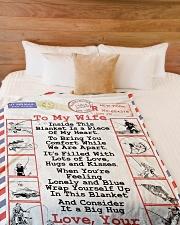 "Fishing Lover's Wife  Premium Large Fleece Blanket - 60"" x 80"" aos-coral-fleece-blanket-60x80-lifestyle-front-02"