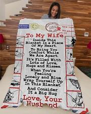 "Fishing Lover's Wife  Premium Large Fleece Blanket - 60"" x 80"" aos-coral-fleece-blanket-60x80-lifestyle-front-04"