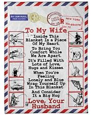 "Fishing Lover's Wife  Premium Large Fleece Blanket - 60"" x 80"" front"