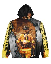 Firefighter Women's All Over Print Hoodie back