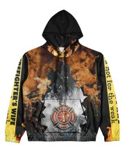 Firefighter Women's All Over Print Hoodie front