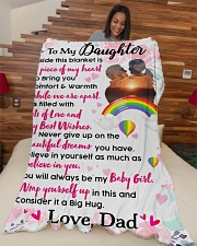 """Gift For Daughter - Black Friday Sale Large Fleece Blanket - 60"""" x 80"""" aos-coral-fleece-blanket-60x80-lifestyle-front-04"""