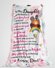 """Gift For Daughter - Black Friday Sale Large Fleece Blanket - 60"""" x 80"""" aos-coral-fleece-blanket-60x80-lifestyle-front-10"""