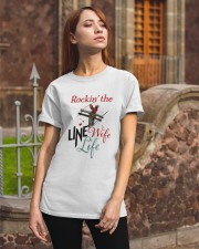 LINEMAN'S WIFE Classic T-Shirt apparel-classic-tshirt-lifestyle-06