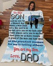 "Trucker's Son-Cyber Monday sale Large Fleece Blanket - 60"" x 80"" aos-coral-fleece-blanket-60x80-lifestyle-front-04"
