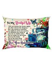 GIFT FOR A TRUCKER'S  WIFE - PREMIUM Rectangular Pillowcase back