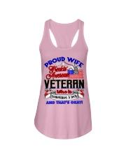 Veteran's Wife Ladies Flowy Tank tile