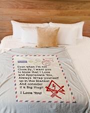 "ELECTRICIAN'S WIFE Large Fleece Blanket - 60"" x 80"" aos-coral-fleece-blanket-60x80-lifestyle-front-02"