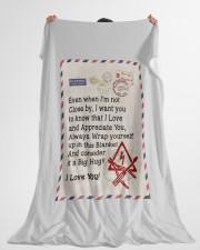 "ELECTRICIAN'S WIFE Large Fleece Blanket - 60"" x 80"" aos-coral-fleece-blanket-60x80-lifestyle-front-10"