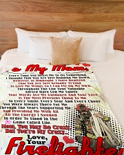 "Firefighter's Mom  Premium Large Fleece Blanket - 60"" x 80"" aos-coral-fleece-blanket-60x80-lifestyle-front-02"