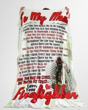 "Firefighter's Mom  Premium Large Fleece Blanket - 60"" x 80"" aos-coral-fleece-blanket-60x80-lifestyle-front-10"