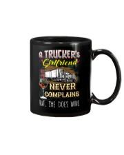 TRUCKER'S GIRLFRIEND LOVES WINE Mug thumbnail