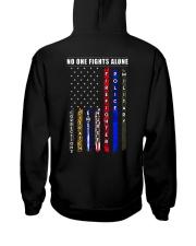 NO ONE FIGHTS ALONE Hooded Sweatshirt thumbnail