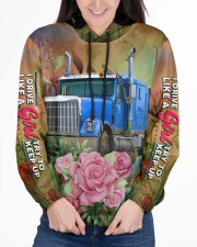 Lady Trucker Women's All Over Print Hoodie aos-complex-women-hoodie-lifestyle-front-03