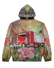 Lady Trucker Women's All Over Print Hoodie back