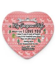 Mechanic's Wife - Heart ornament - single (porcelain) front