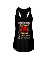 OILFIELDMAN'S  GIRLFRIEND LOVES WINE Ladies Flowy Tank thumbnail