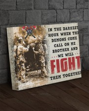 FIREFIGHTER - Premium 14x11 Gallery Wrapped Canvas Prints aos-canvas-pgw-14x11-lifestyle-front-11