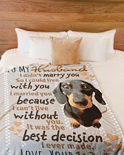 "Gift For Hubby  Premium Large Fleece Blanket - 60"" x 80"" aos-coral-fleece-blanket-60x80-lifestyle-front-02"