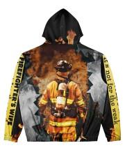 Firefighter Men's All Over Print Hoodie back