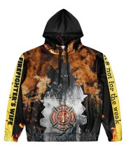 Firefighter Men's All Over Print Hoodie front