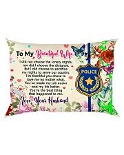 GIFT FOR A POLICE OFFICER'S WIFE - PREMIUM Rectangular Pillowcase back