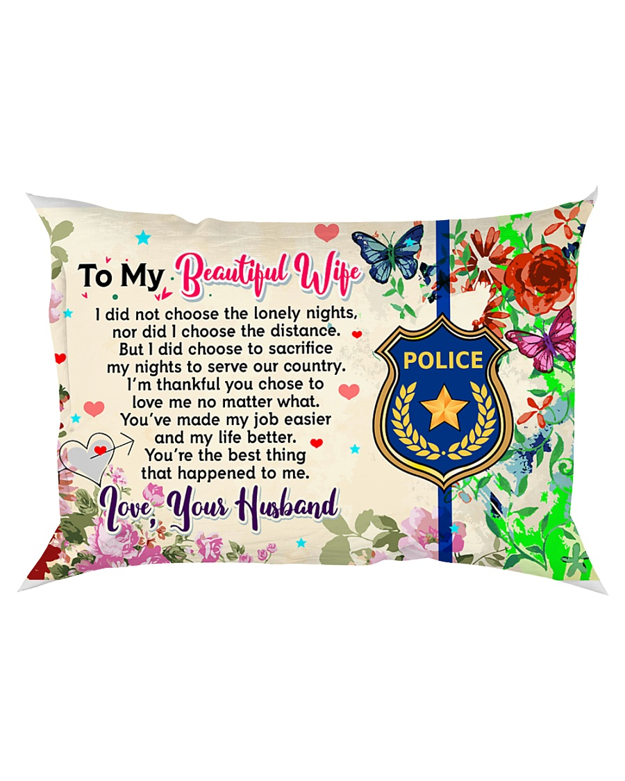 GIFT FOR A POLICE OFFICER'S WIFE - PREMIUM Rectangular Pillowcase