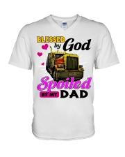 Trucker's Daughter V-Neck T-Shirt tile
