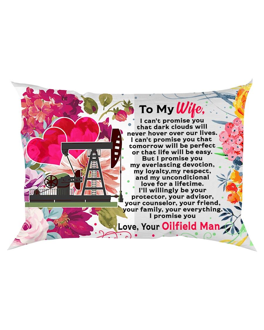 GIFT FOR AN OILFIELD MAN'S WIFE - PREMIUM Rectangular Pillowcase