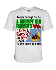 Grumpy Old Farmer's Wife V-Neck T-Shirt thumbnail