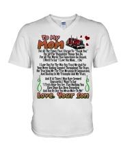 Trucker's Mom V-Neck T-Shirt tile