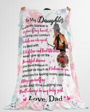 "Firefighter's Daughter Premium Large Fleece Blanket - 60"" x 80"" aos-coral-fleece-blanket-60x80-lifestyle-front-10"