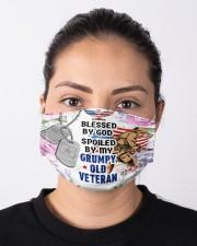 VETERAN'S  WIFE Cloth face mask aos-face-mask-lifestyle-01