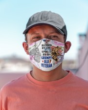 VETERAN'S  WIFE Cloth face mask aos-face-mask-lifestyle-06