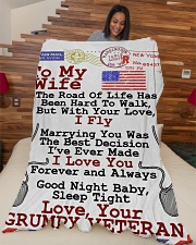 "Veteran's Wife  Premium Large Fleece Blanket - 60"" x 80"" aos-coral-fleece-blanket-60x80-lifestyle-front-04"