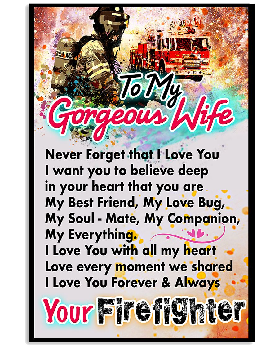 FIREFIGHTER'S WIFE - PREMIUM 11x17 Poster
